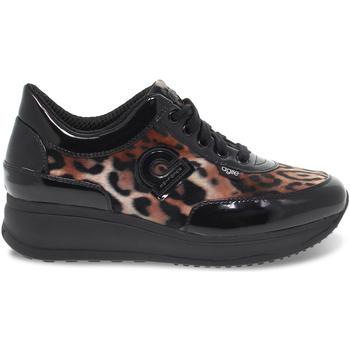 Scarpe Donna Sneakers basse Rucoline Sneakers  AGILE in vernice e pelle maculato e nero beige,nero