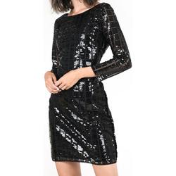 Abbigliamento Donna Abiti corti Molly Bracken LADIES WOVEN DRESS ABITO DONNA W784 BLACK Nero