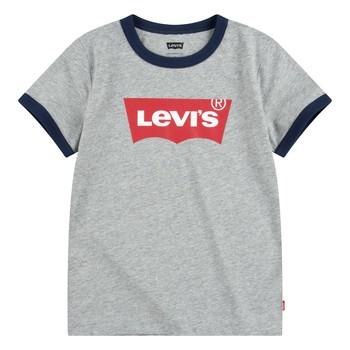 Abbigliamento Bambino T-shirt maniche corte Levi's BATWING RINGER TEE Grigio