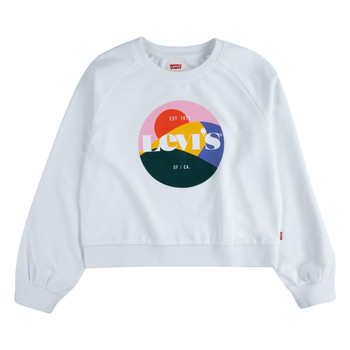 Abbigliamento Bambina Felpe Levi's 4ED410-001 Bianco