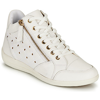 Scarpe Donna Sneakers alte Geox D MYRIA G Bianco