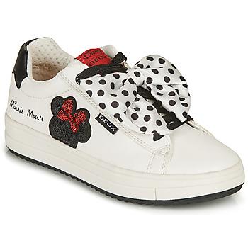 Scarpe Bambina Sneakers basse Geox REBECCA GIRL Bianco / Nero / Rosso