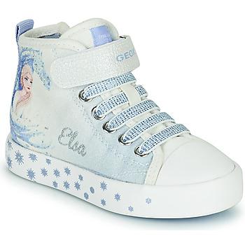 Scarpe Bambina Sneakers alte Geox JR CIAK GIRL Bianco / Blu