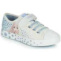 Scarpe Bambina Sneakers basse Geox JR CIAK GIRL Bianco / Blu