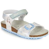 Scarpe Bambina Sandali Geox ADRIEL GIRL Bianco / Blu