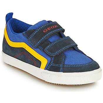 Scarpe Bambino Sneakers basse Geox ALONISSO BOY Marine / Giallo