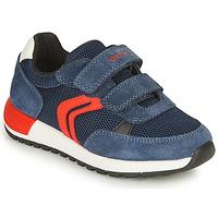 Scarpe Bambino Sneakers basse Geox ALBEN BOY Marine / Rosso