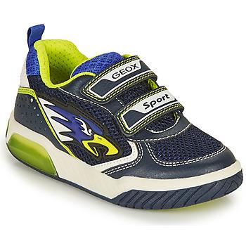 Scarpe Bambino Sneakers basse Geox INEK BOY Marine / Giallo
