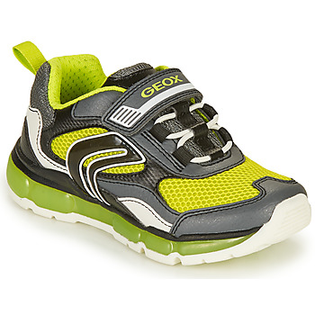 Scarpe Bambino Sneakers basse Geox ANDROID BOY Grigio / Lime