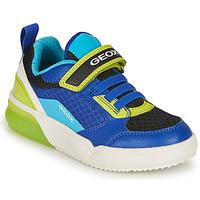 Scarpe Bambino Sneakers basse Geox GRAYJAY BOY Blu / Lime