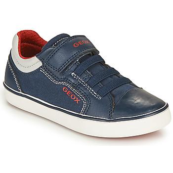 Scarpe Bambino Sneakers basse Geox GISLI BOY Marine / Rosso