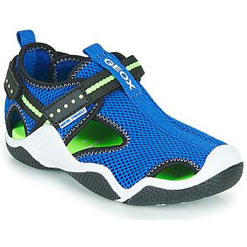 Scarpe Bambino Sandali sport Geox JR WADER Blu / Verde