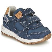 Scarpe Bambino Sneakers basse Geox ALBEN BOY Blu / Marrone