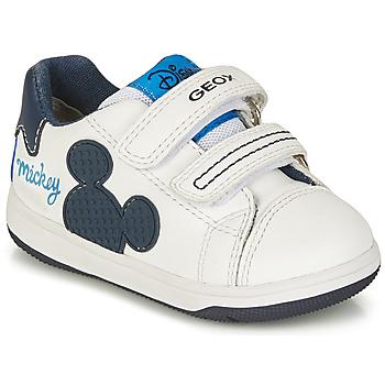 Scarpe Bambino Sneakers basse Geox NEW FLICK BOY Bianco / Blu