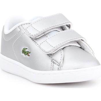 Scarpe Unisex bambino Sneakers basse Lacoste Carnaby EVO 317 6 SPI 7-34SPI0006334 silver