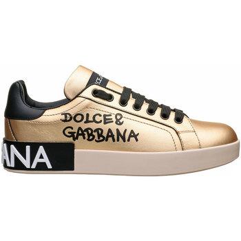 Scarpe Donna Sneakers basse D&G PORTOFINO SNEAKERS Oro