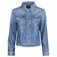 Abbigliamento Donna Giacche in jeans G-Star Raw 3301 Straight Dnm Jkt Wmn Azzurro
