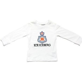 Abbigliamento Bambino T-shirts a maniche lunghe Iceberg TSICE0316B Bianco