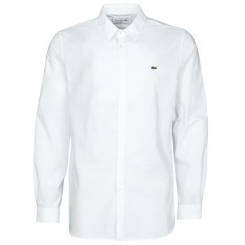 Abbigliamento Uomo Camicie maniche lunghe Lacoste PITTA Bianco