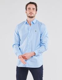 Abbigliamento Uomo Camicie maniche lunghe Lacoste PITTA Blu