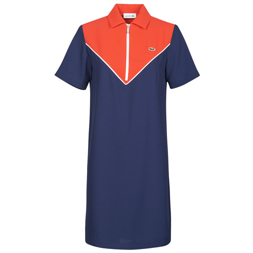 Abbigliamento Donna Abiti corti Lacoste FRITTI Rosso / Blu