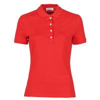 Abbigliamento Donna Polo maniche corte Lacoste POLO SLIM FIT Rosso