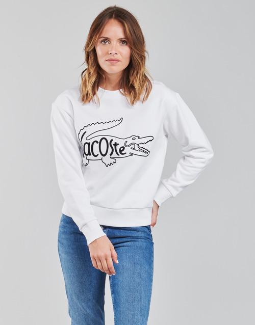 Abbigliamento Donna Felpe Lacoste SFORZA Bianco