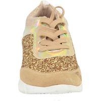 Scarpe Donna Sneakers basse Malu Shoes Sneakers bassa donna glitterato oro effetto sirena con fondo bi BEIGE
