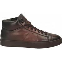 Scarpe Uomo Sneakers alte Santoni POLAC.8OCC. ZIP BASKET cioccolato