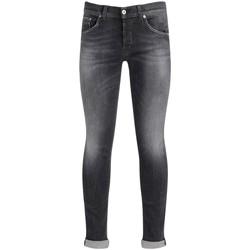 Abbigliamento Uomo Jeans slim Dondup Jeans Ritchie in cotone grigio slavato Nero