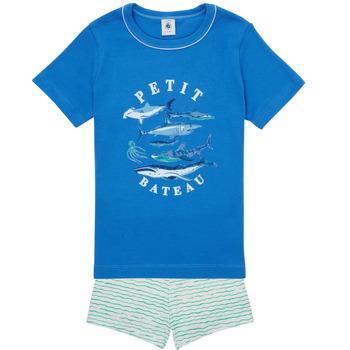 Abbigliamento Bambino Pigiami / camicie da notte Petit Bateau MAYONNAISE Multicolore
