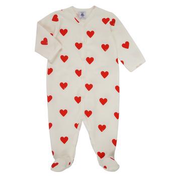 Abbigliamento Bambina Pigiami / camicie da notte Petit Bateau MESCOEURS Bianco