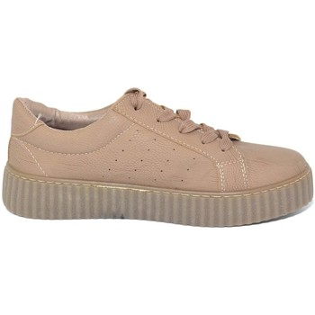 Scarpe Donna Sneakers basse Malu Shoes Sneakers bassa donna fondo creepe ecopelle tortora fondo ambra BEIGE
