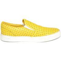 Scarpe Donna Mocassini Malu Shoes Mocassino slip on donna giallo con stelle elastico laterale fon GIALLO