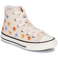 Scarpe Bambina Sneakers alte Converse CHUCK TAYLOR ALL STAR SPRING FLOWERS HI Bianco
