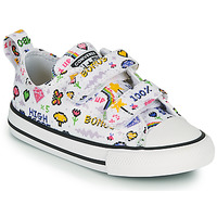 Scarpe Bambina Sneakers basse Converse CHUCK TAYLOR ALL STAR 2V GIRLS GAMER OX Bianco / Multicolore