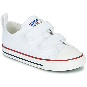 Scarpe Bambina Sneakers basse Converse CHUCK TAYLOR ALL STAR 2V LOVE CEREMONY OX Bianco