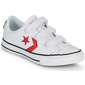 Scarpe Bambino Sneakers basse Converse STAR PLAYER 3V VARSITY CANVAS OX Bianco / Rosso
