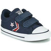 Scarpe Bambino Sneakers basse Converse STAR PLAYER 2V TEXTILE DISTORT OX Blu / Rosso
