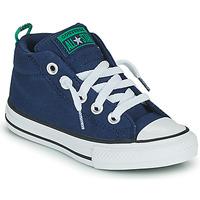 Scarpe Bambino Sneakers alte Converse CHUCK TAYLOR ALL STAR STREET CANVAS COLOR MID Blu