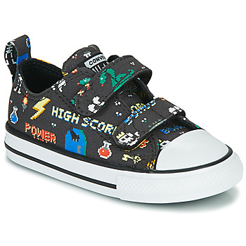 Scarpe Bambino Sneakers basse Converse CHUCK TAYLOR ALL STAR 2V BOYS GAMER OX Nero / Multicolore