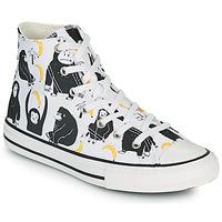 Scarpe Unisex bambino Sneakers alte Converse CHUCK TAYLOR ALL STAR GOING BANANAS HI Bianco / Multicolore