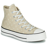 Scarpe Donna Sneakers alte Converse CHUCK TAYLOR ALL STAR LIFT CANVAS BRODERIE HI Beige