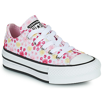 Scarpe Bambina Sneakers basse Converse CHUCK TAYLOR ALL STAR EVA LIFT CANVAS BRODERIE OX Bianco / Rosa