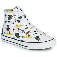 Scarpe Bambino Sneakers alte Converse CHUCK TAYLOR ALL STAR CROCO SURF HI Bianco / Verde