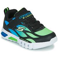 Scarpe Bambino Sneakers basse Skechers FLEX-GLOW Nero / Blu / Verde