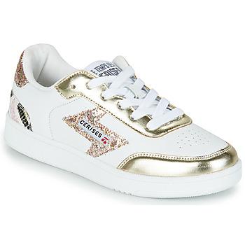 Scarpe Donna Sneakers basse Le Temps des Cerises FLASH Bianco / Oro