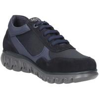 Scarpe Uomo Trekking CallagHan Squalo 12919 sneakers uomo pelle blu Blue