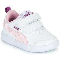 Scarpe Bambina Sneakers basse Puma COURTFLEX INF Bianco / Rosa
