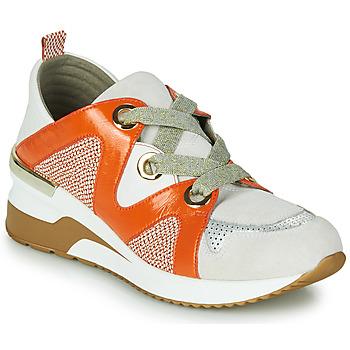 Scarpe Donna Sneakers basse Mam'Zelle VELODE Beige / Arancio